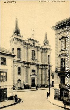 Warsaw 1930; corner of Freta and Zakroczymska streets, Church of Fraciscan monks