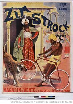 1890 Zim Strock  Cie. Usine à Amiens . Magasin de vente 35, avenue de la G[ran]de Armée : [affiche] / [Wilhio]