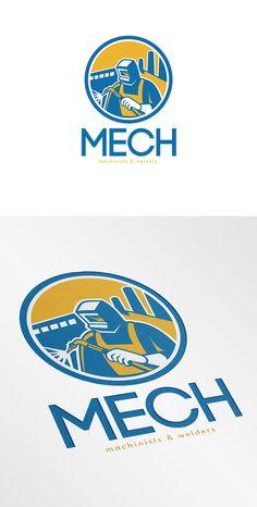 Mech Machinist and Welder Fabricator - Logos - 1