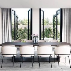 Modern Dining Room Chairs That Will Change Your Home Decor Dining Room Design, Dining Room Table, Dining Rooms, White Dining Chairs, Designer Dining Chairs, Dining Area, Black Chairs, Kitchen Dining, Minimalist Dining Room
