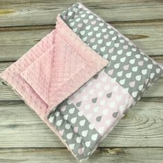 Excited to share the latest addition to my #etsy shop: Minky Baby Blanket, Pink Minky Dots Blanket, Cozy Rain Drops Baby Blanket, Baby shower Gift for Girl, Pink Blanket, Cotton Minky Blanket