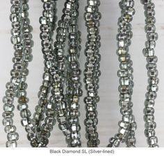 Czech Glass 6/0 Beads - Gemtastic Shawl / Black Diamond SL