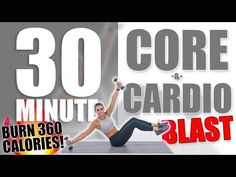 30 Minute Core and Cardio Blast Workout 🔥Burn 360 Calories! Weight Lifting, Weight Loss, Losing Weight, Cardio Routine, Cardio Workouts, Workout Routines, Fitness Workouts, Fitness Motivation, Ab Work