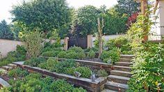 Un jardin sur trois niveaux réalisé par un paysagiste