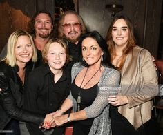 Therese Gibb, Ashley Gibb, Lucas Gibb, Barry Gibb, Linda Gibb and Alexandra Gibb attend the Sony Music UK Summer Party at Sexy Fish on July 13, 2016 in London, England.
