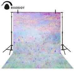 >> Click to Buy << Allenjoy Photography background Bokeh purple lavender flowers forest garden baby girl studio digital backdrops #Affiliate