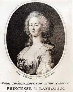 Marie Therese Louise de Savoie, Princesse de Lamballe