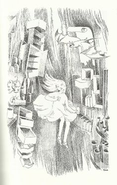 Tove Jansson illustration from 'Alice in Wonderland' by Lewis Carroll Alice In Wonderland Illustrations, Alice In Wonderland Book, Adventures In Wonderland, Tove Jansson, Lewis Carroll, Illustration Art, Art Illustrations, Fairy Tales, Book Art