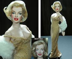 Marilyn Monroe doll repainting by Noel Cruz aka noeling Marilyn Monroe, Realistic Face Drawing, Realistic Dolls, Doll Painting, Farrah Fawcett, Face Contouring, Colin O'donoghue, Fair Lady, Doll Repaint
