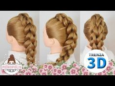 TRENZA en 3D versión PARA PRINCIPIANTES! - 3D Pull Through Braid! - YouTube