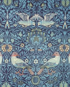 `Bird', woven tapestry, William Morris, England,