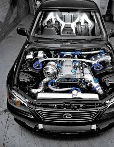 Yum.. Inline 6 dual overhead with BIG turbocharger!