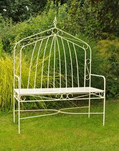 Metal Gothic High-backed bench from chrisbose.co.uk