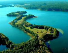Poland Mazury - poland, forests, lakes, blue, masuria