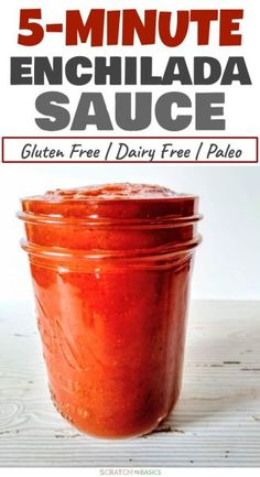 Easy Enchilada Sauce Recipe Using Tomato Paste & Simple Spices - This enchilada sauce is easy, homemade, and made with simple, gluten free ingredients. Whip it up i - Recipes With Enchilada Sauce, Homemade Enchilada Sauce, Homemade Enchiladas, Sauce Recipes, Enchilada Sauce Recipe Gluten Free, Tomato Paste Uses, Tomato Paste Recipe, Recipes With Tomato Paste, Homemade Tomato Paste