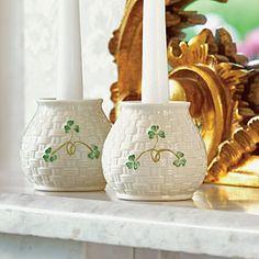 Irish Pottery, Belleek China, Belleek Pottery, Irish Christmas, Candle Sticks, China Tea Sets, Irish Blessing, Irish Recipes, Luck Of The Irish