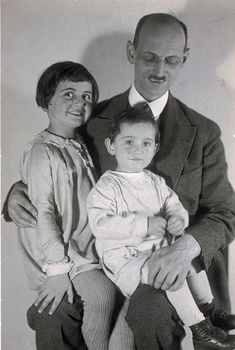 "Otto, Margot and Anne Frank.probably about 1932.Otto was the only survivor of the family and returned to Amsterdam after the war. He found that Anne's diary had been saved.He was so very happy,and his efforts had it published in 1947,It was translated from Dutch and was published in 1952 as ""The Diary of A  Young Girl"""