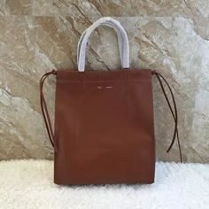 Celine Vertical Coulisse Shoulder Bag In Smooth Calfskin Cinnamon Fall 2016      Real Purse ad09d649eef5c