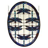 Found it at Wayfair - Dragonflies Stained Glass Window