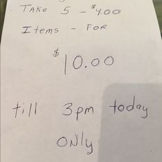 Big Sale today extended to 6pm Big sale take any five items that are four dollars and pay only $10. Sale going till 3 PM today Saturday only. Let me know and I will bundle for you have fun girls. All Bags