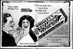 May 18, 1913 ad for Wrigley's Spearmint Gum.
