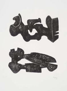 Henry Moore OM, CH 'Two Black Forms: Metal Figures', 1973 © The Henry Moore Foundation. All Rights Reserved