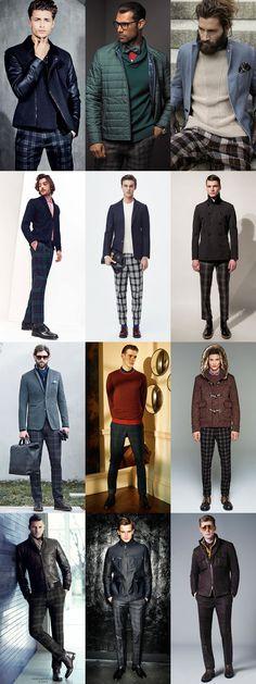 Ways To Wear: Men's 2014 Autumn/Winter Check/Tartan Trend: 1. Check Trousers Lookbook Inspiration