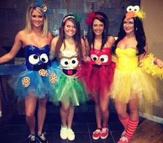 Halloween costume group idea sesame street family #halloween #costumes #group #family