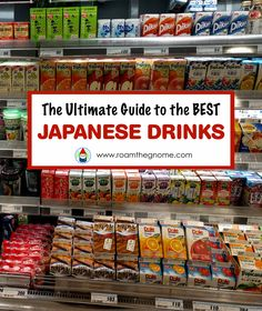 Roam the Gnome's Guide to the Best JAPANESE DRINKS you can try in Japan. What Japanese drinks to buy and where to buy Japanese drinks too. Japan Travel Guide, Asia Travel, Attractions In Tokyo, Guide To Japanese, Japanese Drinks, Japan Holidays, Japan Guide, Japanese Stationery, Japan Trip