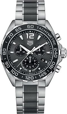 0839e1b43cb TAG Heuer Men's 'Formula 1' Swiss Quartz Stainless Steel Dress Watch, Color: