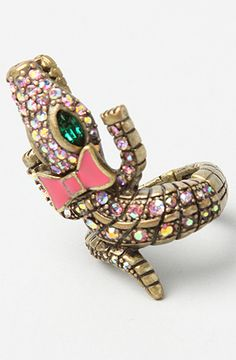 The Alligator Stetch Ring by Betsey Johnson  #Karmaloop Discount Rep Code: STYLECAFE