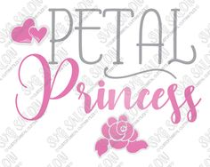 SVG Files for Cricut and Silhouette Machines Diy For Girls, Shirts For Girls, Girl Shirts, Girls Cuts, Cricut Wedding, Princess Flower, Silhouette Cameo Machine, Silhouette Studio Designer Edition, Vinyl Projects
