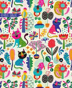 A tiger kitten flower story pattern to show you today: There once was a magic garden. It was deep inside the land of Summer and it ...