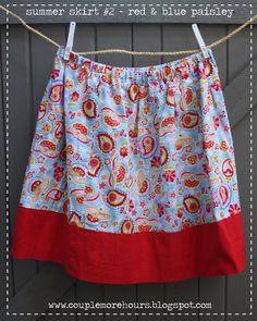Homemade skirt