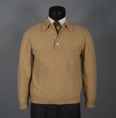 Vintage Mens Sweater HIGBEES Lambswool Camel by jauntyrooster, $45.00