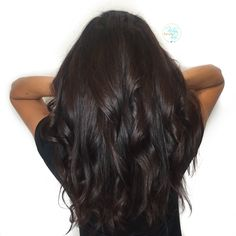 Rich dark chocolate brown hair color - by Kellyn at Bow & Arrow, North End Boston at www.bowandarrowcollective.com