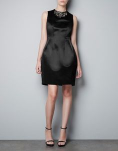 yes please. DRESS WITH JEWELLED COLLAR - Dresses - Woman - ZARA Canada