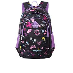 Vere Gloria Girls Printing School Backpacks Bags for Primary Middle High School Students (Black with Purple) Vere Gloria http://www.amazon.com/dp/B00XXHWPNM/ref=cm_sw_r_pi_dp_lgO9vb02B80PT