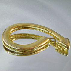 Vintage Brooch Arrow Gold Large by waalaa on Etsy, $19.99