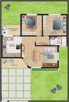 projeto arquitetonico de casas planta baixa - Pesquisa Google