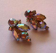 JULIANA D Crystal AB Rhinestone Earrings.