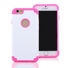 """White & Pink iPhone 6 5.5"""" TPU Rubber Gel Ultra Thin Protect Hard Case Cover #37 #UnbrandedGeneric"""