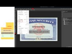 edit psd ss card all devices online editing ssn card file don't need storage or software Money Template, Birth Certificate Template, Online Security, Lifehacks, Ss, Software, Storage, Youtube, Cards