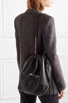 Ysl Saint Laurent woman teddy drawstring bucket chain shoulder bag Women s  Teddies 8ab785cf5e966