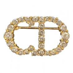 Pre-Owned Dior Gold Crystal Pins & Brooches Baby Dior, Global Icon, Christian Dior Couture, French Fashion, World Of Fashion, Luxury Branding, Brooch Pin, Brooches, Stylists