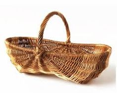 Hearty Old French handmade Grape Harvest Wooden Basket Woodenware