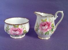 A personal favorite from my Etsy shop https://www.etsy.com/ca/listing/507662872/royal-albert-american-beauty-creamer-and