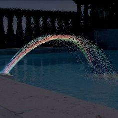 pool accessories At your next pool party put on a show of water and light withColorfoul Pool Accessory Lights. The LED lights will change color automatically to shoot out different colors so you can enjoy the colorful water. Swimming Pool Fountains, Swimming Pool Waterfall, Swimming Pool Vacuum, Swimming Pool Lights, Swimming Pools Backyard, Swimming Pool Designs, Swimming Pool Accessories, Pool Fun, Diy Pool