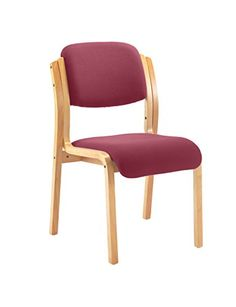 Office Hippo Wood Framed Visitor Stacking Chair With Arms_p1
