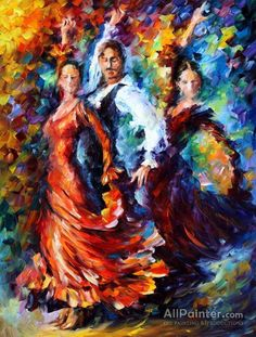 Leonid Afremov Dancers oil painting reproductions for sale